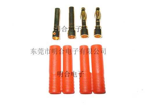 4.0mm带护套加强式香蕉插头